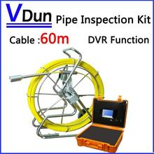 60m Industrial Pipe Video Inspection  System  with 7inch LCD Monitor / USB DVR function Sewer/ Drain cameras, VD-PC60L