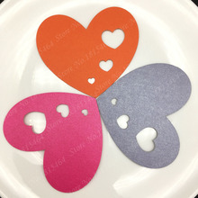 60pcs Heart Valentine's Day Wish Card Ornaments Hanging Tags Birthday Decoration Gift Cards Wedding Party Decoration Supplies(China)