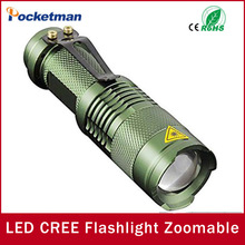 Mini LED Flashlight Black CREE Q5 2000LM Waterproof Laterna 3 Modes Zoomable PortableTorch penlight AA 14500 - Pocketman Technology (China store Co., Ltd.)