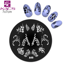 Buy KADS A49 Flower Nail Stamp Nail Stamp Plates DIY Image Printing Templates Nail Stencils Nail Art Stamp Flower for $1.20 in AliExpress store