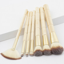 7Pcs Bamboo Brush Set Make Up Tools Eye Shadow Concealer Foundation Powder Makeup Brushes Big Large Fan Cleaning Brush