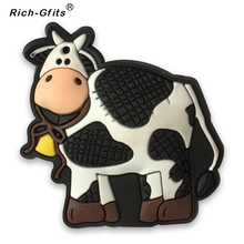 Stocks Promotional Gifts silicon Cartoon cow refrigerator Stickers decoration (RC-R-005)(China)