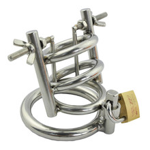 Buy Male Dick Bondage Arc Type Cock Ring Small Chastity Cage Metal Stainless Steel Cockring Penis Cage Chastity Device Men G150