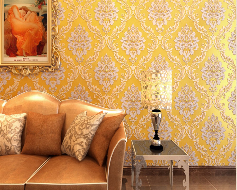 Beibehang Europe 3d wallpaper Damascus high quality bedroom living room TV background wallpaper for walls 3 d papel de parede<br>