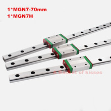 MGN7R cnc linear rail MGN7 L70mm+ MGN7H carriage with a low price Long linear carriage for CNC X Y Z Axis  linear guide