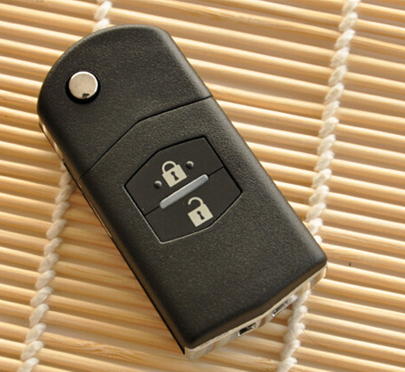 Replacement Car key Shell Folding Flip Remote Key Keyless Case key cover 2 Button for MAZDA 3 5 6(China (Mainland))