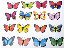 Whole Sale 100X 3D Artificial Butterfly Decorations Magnets Craft Fridge Room Wall Decor