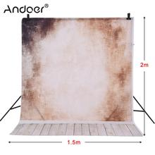 Andoer 1.5 * 2m Photography Background Backdrop Wall Wooden Floor Pattern for Children Kids Baby Photo Studio Portrait Shooting