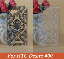 Paisley Flower Vintage Black &White Flower Hard PC Plastic Cover Case For HTC Desire 400 T528W One SU Dual SIM