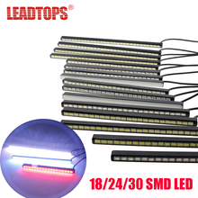 LEADTOPS 18/24/30 Bright Bar LED DRL 12-20cm SMD5630 LED Car DRL Fog Light Daytime Running Light Invisible Waterproof LED BJ(China)