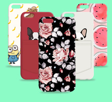Russia Brazil flower Skin Hot sale cover Cat promotional discounts Cartoon case for iPhone 6 PLUS 5.5 inch 5.5""