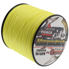 Strong 8 strands pe braided fishing line Japan Multifilament line 500M yellow braided wires fishing product free shipping(China)