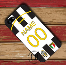 Juventus Custom Jersey Your Name case for iphone X 4s 5s SE 5c 6s 7 8 plus Samsung s3 s4 s5 mini s6 s7 edge plus Note 3 4 5 8(China)