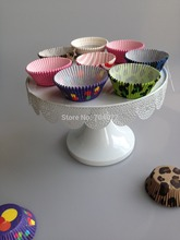 2015 New 1 Tier white iron cake stand Cupcake holder Cake Decoration Tower Wedding Party Lesbian design