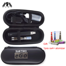 Sub Two Ego ce4 e-cigarettes kit 650-1100mah ego battery 1.6ml ce4 atomizer electronic hookah pen vaporizer smoke vape pen(China)