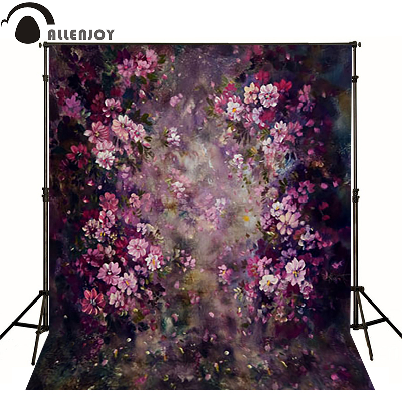 Allenjoy vinyl backdrops for photography Purple flower painting poetry photo background baby kid photocall cute 3x5ft<br><br>Aliexpress