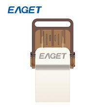 EAGET V9 32GB Metal OTG USB Flash Drive Pendrives 32 GB USB Stick Pen Drive USB 2.0 Safety Encryption Memory Memorias Disks
