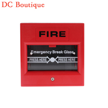 (1 PCS) Fire Control Button Break Glass to Alarm Red color Alarm system accessrioes NC/NO options Panic button Fire protection