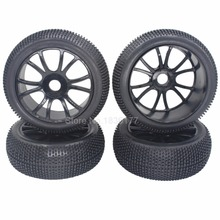 "4 Pieces 3.2"" RC 1/8 Off Road Buggy Car Wheels Tires 115mm 17mm Hub For Losi HSP HPI Ofna Kyosho(China)"