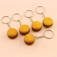 1 Piece!!! Creative Hamburger Keyring Simulated Fast Food Keychain Family And Kid's Gift Best Friend Llavero Cute Key Holder