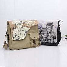31cm*26cm Anime Naruto Black Butler Death Note School Bags Canvas Messenger Bags