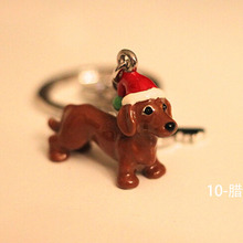 Fashion 3D dog Three-Dimensional Pet Dogs Keychains dachshunds chihuahua Car Key Ring bag charm Woman jewelry Christmas gift(China)