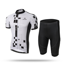 XINTOWN Men's Short Set New Cycling Jersey Cycling Set Short Sleeve Jersey Siut New Bike Bicycle Men's Team Outdoor Grid(China)