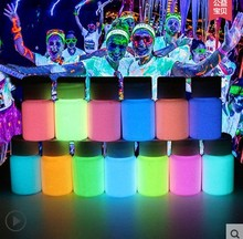 Mixed 12 colors Luminous Acrylic body paints,12pieces/lot,super bright fluorescent paint,pigment Noctilucent powder,glow in dark
