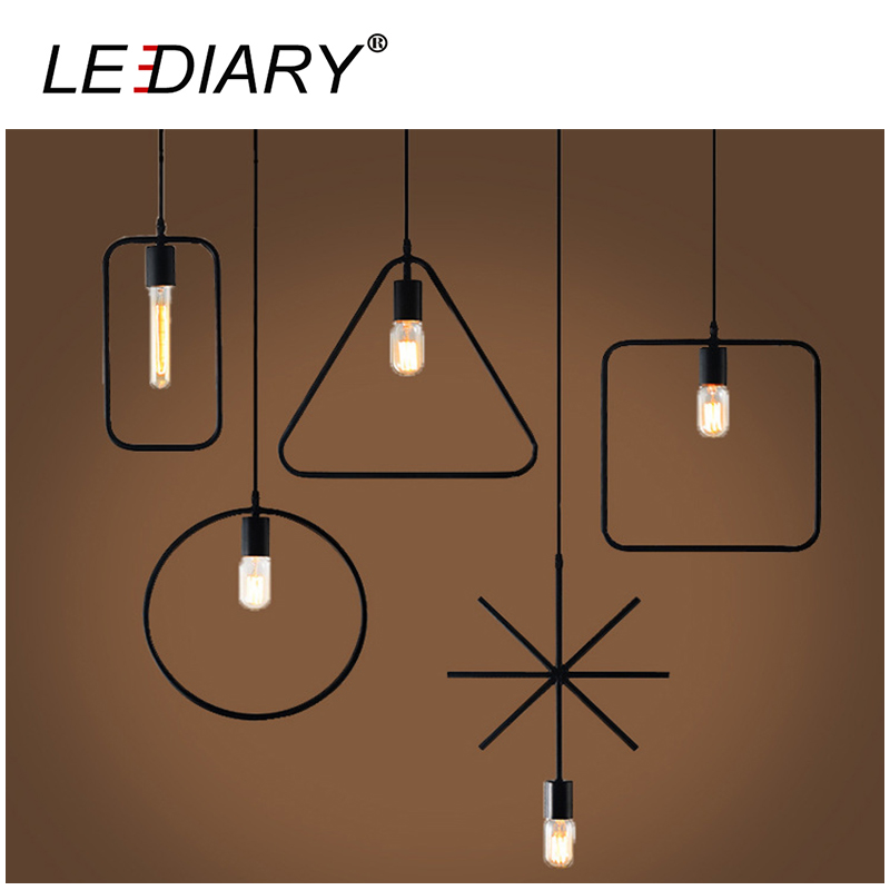 LED Retro Iron Pendant Lamp 110V/220V E27 Holder Art Hanging Lamp Dimmable Droplight Black Painting Vintage Lighting Living Room<br><br>Aliexpress