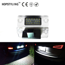 Car styling No Error LED license plate light For Audi A4 B5 A3 8L Facelift 1996~2000 auto tail number plate lamps