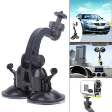 Universal 1/4 Screw Camera Holder Bracket Two Suction Cup Sucker Holder Mount for Gopro Hero 5 4 3 Sj4000