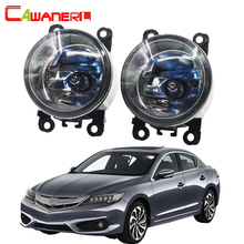 Cawanerl 1 Pair 100W H11 Car Light Halogen Lamp Fog Light DRL Daytime Running Lamp 12V Super Bright For Acura ILX 2013-2016(China)