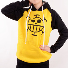 Japanese Anime clothes One Piece cosplay Trafalgar Law Costume Hoodie adult yellow Sweater Anime fans casual daily style