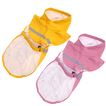 Yellow Pink Colors Raincoat for Dogs Fashion Pet Waterproof Rain Coat Jacket Clothes for Dogs(China)