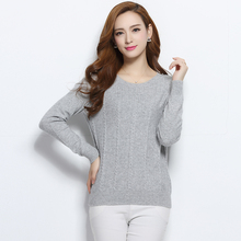 Women's Sweater 100% Pure Cashmere Pullover New Fashion O neck Warm Skirts Hot Sale Regular Sleeve Clothes Solid Standard Tops