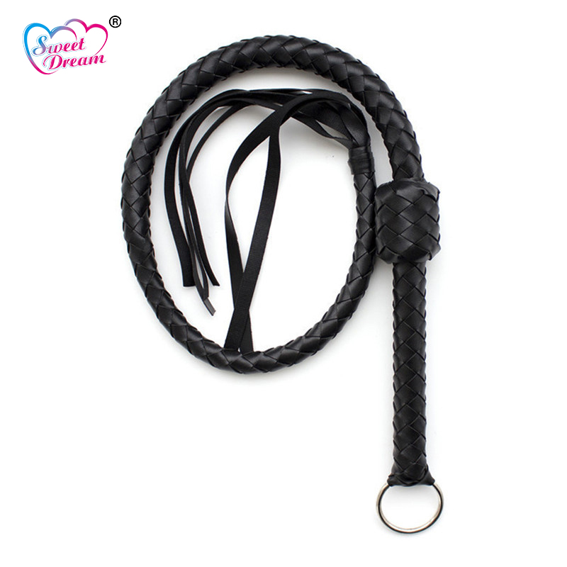 Sweet Dream 5.5m Long Whip Woven PU Leather Bondage Whip Sex Torture BDSM Fetish Bondage Adult Game Sex Toys Couple DW-187