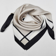 2017 New Arrival High Quality Brand Plaid Silk Square Scarf Women Fashion Brand Silk Satin Scarves Bags Twilly Scarf