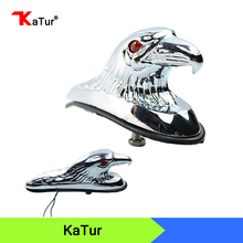 Motorcycle Accessories Chrome Eagle Head Ornament Statue Front Fender Frames for Kawasaki Yamaha Suzuki Honda Ducati Harley
