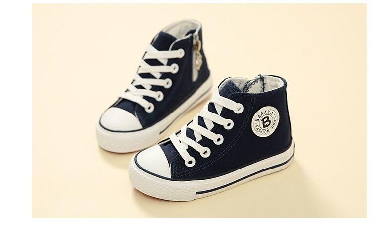 Enfants chaussures pour fille enfants toile chaussures garçons 26