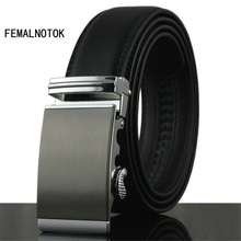 New arrival mens belts luxury high quality Genuine Leather belt men designer automatic buckle belt fashion waist belt(China)