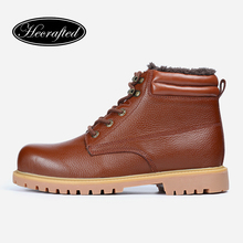 Full Grain Leather Men Winter Boots Size 36~48 Handmade Hecrafted Brand Winter Men Shoes #CX5086(China (Mainland))