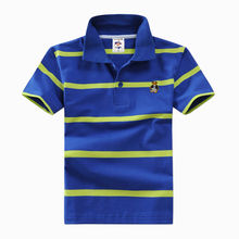 High quality 3-12 year old boy polo shirt short sleeve shirt lapel warm cotton children's T shirt a variety of colors optional(China)