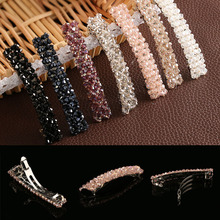1Pc Fashion Women Girls Bling Headwear Crystal Rhinestone Hair Clip Barrette Hairpin Hair Accessories(China)