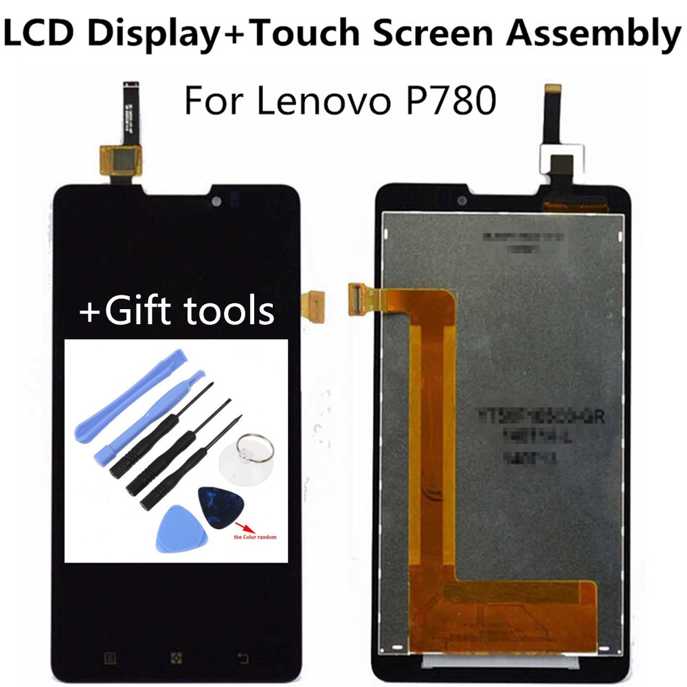 Touchscreen + Lcd Assembly For Lenovo P780 LCD Display + Touch Screen Panel Glass Digitizer Assembly Replacement Parts + tools<br><br>Aliexpress