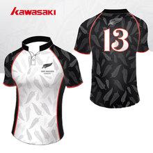 Brand Kawasaki Athletic Fitness Shirt Sleeve Rugby Jersey Sublimation Rugby Shirts For Men& women Can Custom Sports Team Wear