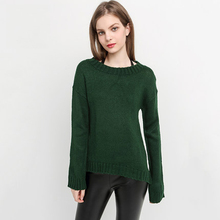 Jumper Loose Solid Color Sweater Round Neck Winter Women Clothes Tops Sueter Knitwear Ladies Christmas Sweaters Fashion 60N301