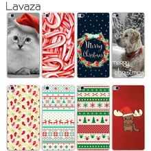 Lavaza Merry Christmas Hard Transparent Cover Case for Huawei P10 P9 Lite Plus P8 Lite P7 6 G7 & Honor 8 Lite 4C 4X 7