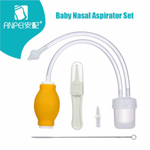 Baby Nasal Aspirator Set Baby Care Products Anti-backwash Device Vacuum Suction Newborn Nose Aspirator Cleaner Snot Nose Cleaner(China)