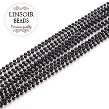 10meters/lot Black Color 1.2/1.5/2.0/2.4/3.2mm Bead Ball Chain Bulk Fitting for Necklaces & Bracelets Diy Jewellery Making