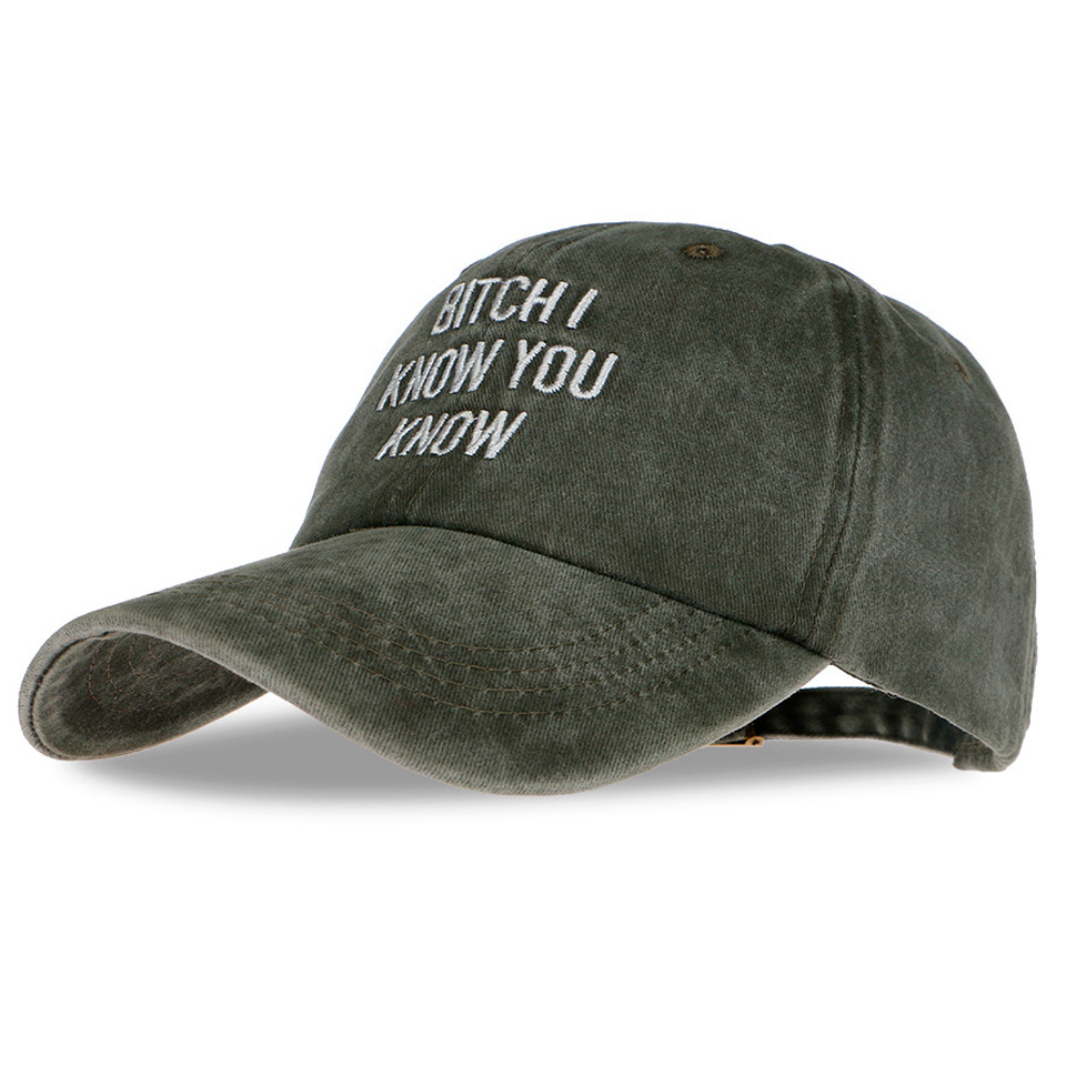 Baseball Caps Bitch I Know You Know Letter Embroidery Snapback Cap Brand Men Dad Hat female Winter hockey bone masculino<br><br>Aliexpress